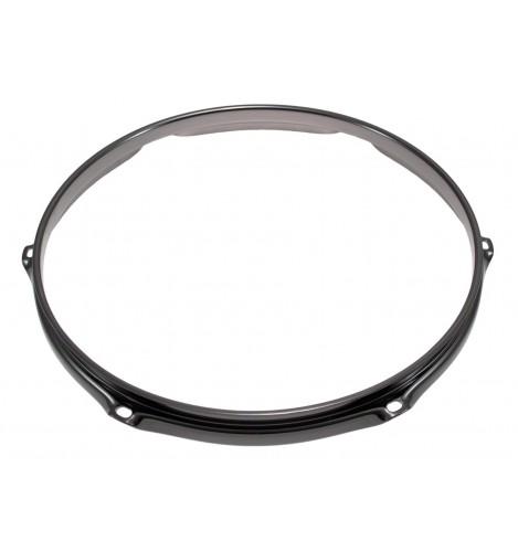 """H23-10-6BK - 10"""" 6 Holes Black 2.3mm Super Triple Flange Drum Hoop"""