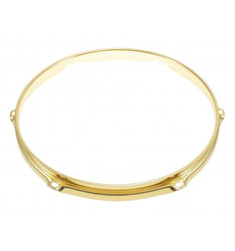 "H23-10-6BR - 10"" 6 Holes Brass 2.3mm Super Triple Flange Drum Hoop"