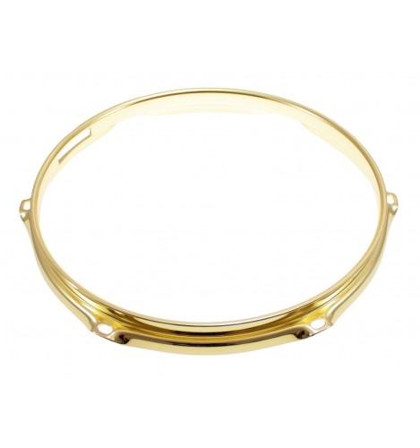 """H23-10-6S-BR - 10"""" 6 Holes Snare Side Brass 2.3mm Super Triple Flange Drum Hoop"""
