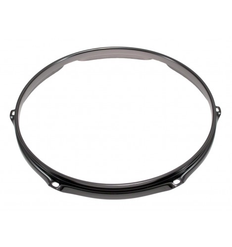 """H23-12-6BK - 12"""" 6 Holes Black 2.3mm Super Triple Flange Drum Hoop"""