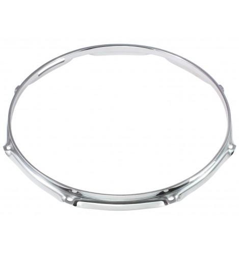 """H23-12-8S - 12"""" 8 Holes Snare Side 2.3mm Super Triple Flange Drum Hoop"""