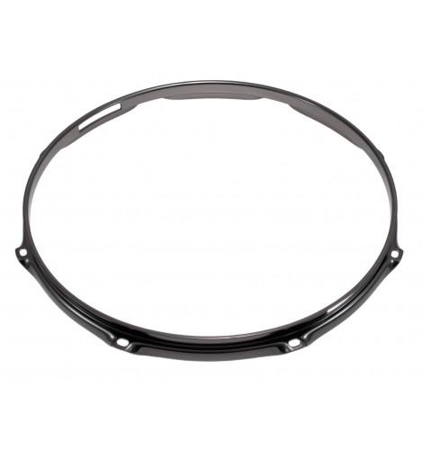 """H23-12-8S-BK - 12"""" 8 Holes Snare Side Black 2.3mm Super Triple Flange Drum Hoop"""