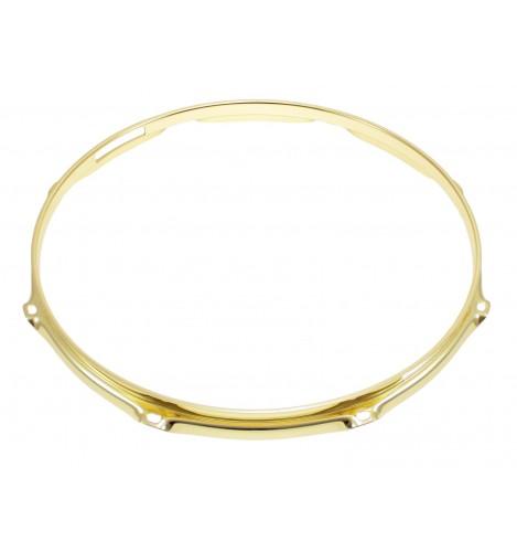 """H23-12-8S-BR - 12"""" 8 Holes Snare Side Brass 2.3mm Super Triple Flange Drum Hoop"""