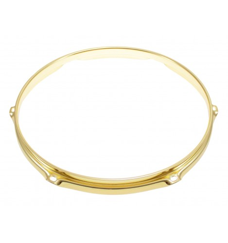 "H23-13-6BR - 13"" 6 Holes Brass 2.3mm Super Triple Flange Drum Hoop"