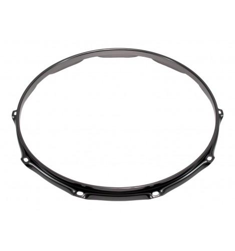 """H23-14-10BK - 14"""" 10 Holes Black 2.3mm Super Triple Flange Drum Hoop"""