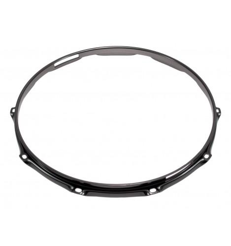 """H23-14-10S-BK - 14"""" 10 Holes Snare Side Black 2.3mm Super Triple Flange Drum Hoop"""