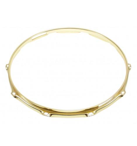 """H23-14-10S-BR - 14"""" 10 Holes Snare Side Brass 2.3mm Super Triple Flange Drum Hoop"""