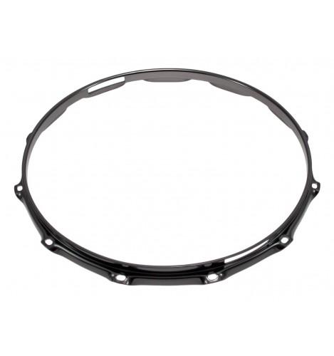 """H23-14-12S-BK - 14"""" 12 Holes Snare Side Black 2.3mm Super Triple Flange Drum Hoop"""