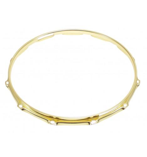"""H23-14-12S-BR - 14"""" 12 Holes Snare Side Brass 2.3mm Super Triple Flange Drum Hoop"""