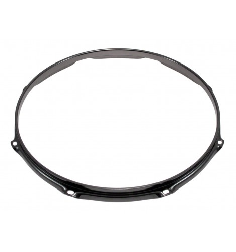"""H23-15-8BK - 15"""" 8 Holes Black 2.3mm Super Triple Flange Drum Hoop"""