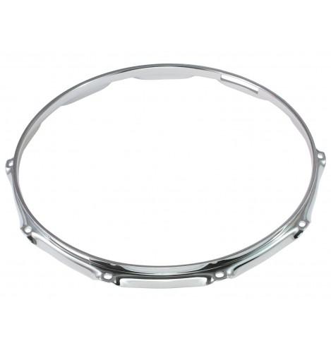 """H30-14-10S - 14"""" 10 Holes Snare Side 3.0mm Super Triple Flange Drum Hoop"""