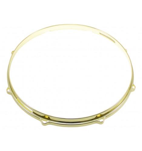 """HDC3-13-8SBR - 13"""" 8 Holes Snare Side Brass 3mm Die Cast Drum Hoop"""