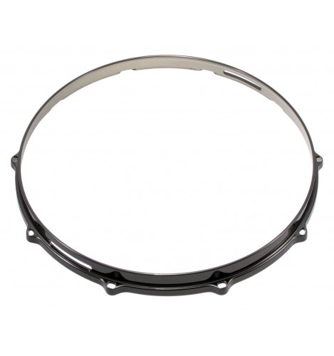 """HDC3-14-10SBK - 14"""" 10 Holes Snare Side Black 3mm Die Cast Drum Hoop"""