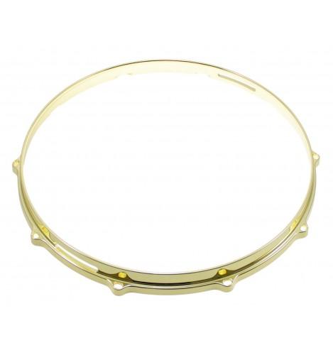 """HDC3-14-10SBR - 14"""" 10 Holes Snare Side Brass 3mm Die Cast Drum Hoop"""