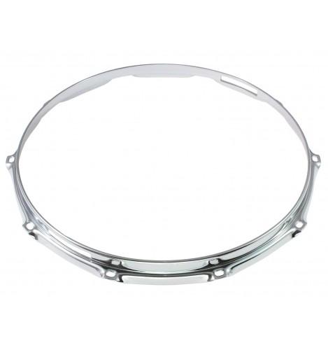 "HS23-14-10S - 14"" 10 Holes Snare Side 2.3mm S-Style Triple Flange Drum Hoop"
