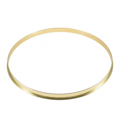 """HSFB23-14BR - 14"""" 2.3mm Brass Single Flange Drum Hoop"""