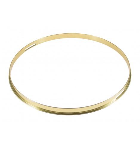 """HSFB23-14SBR - 14"""" Snare Side 2.3mm Brass Single Flange Drum Hoop"""