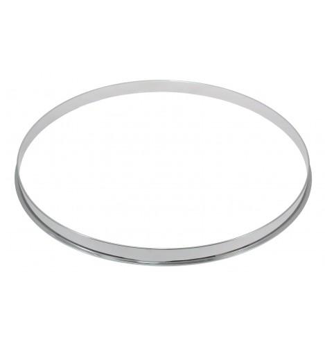 """HSFL23-10 - 10"""" 2.3mm Steel Single Flange Drum Hoop"""