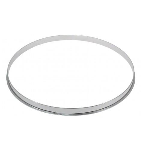"""HSFL23-16 - 16"""" 2.3mm Steel Single Flange Drum Hoop"""