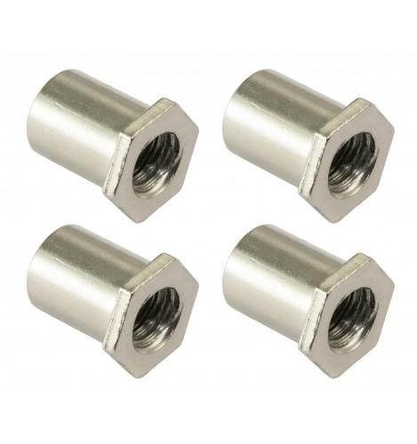 SN-HE-10B - Swivel Nut 10mm Hex Head - Brass (x4)