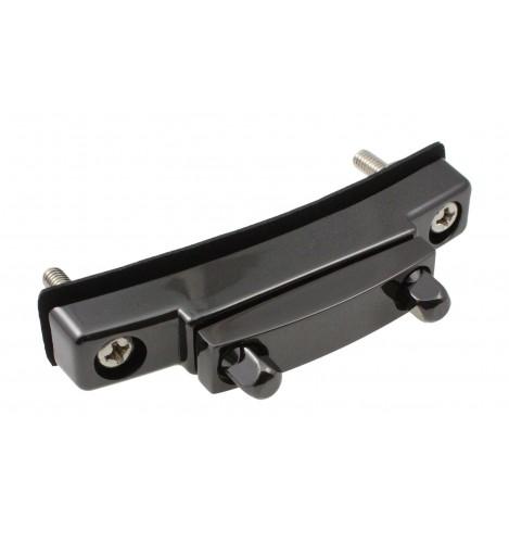 STOB1-BK - Deluxe Snare Strainer Die Cast Butt Plate 59mm - Black