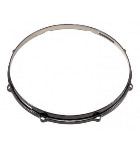 """HDC3-14-8SBK - 14"""" 8 Holes Snare Side Black 3mm Die Cast Drum Hoop"""