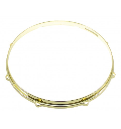 """HDC3-14-8SBR - 14"""" 8 Holes Snare Side Brass 3mm Die Cast Drum Hoop"""