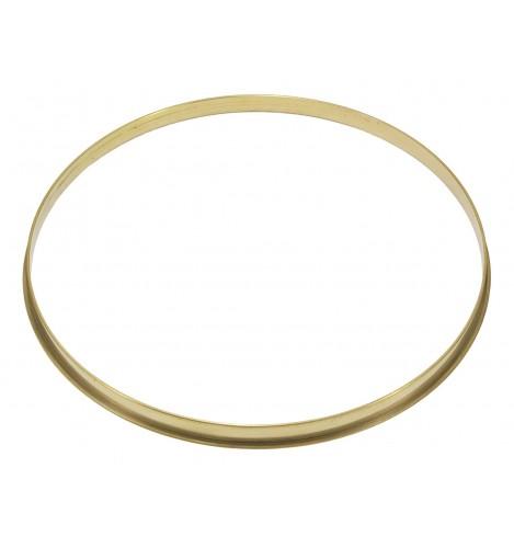 "HSFB23-14RA - 14"" 2.3mm Raw Brass Single Flange Drum Hoop"