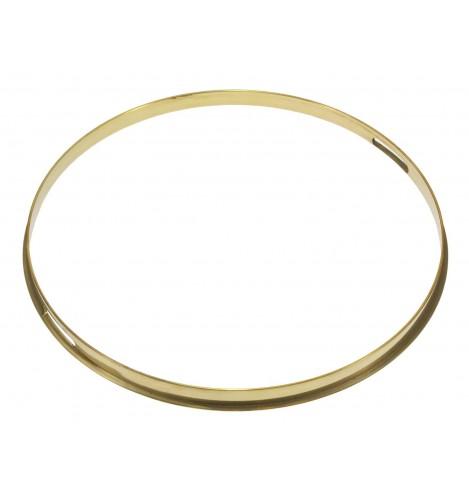 "HSFB23-14SRA - 14"" Snare Side 2.3mm Raw Brass Single Flange Drum Hoop"