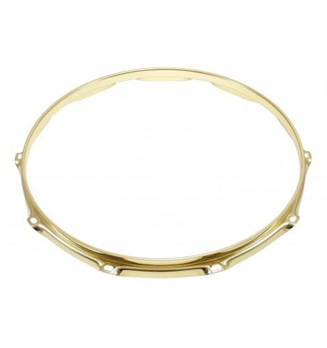 "H30-14-10BR - 14"" 10 Holes Brass 3.0mm Super Triple Flange Drum Hoop"