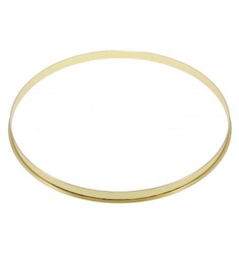 "HSFL23-12BR - 12"" Brass 2.3mm Steel Single Flange Drum Hoop"