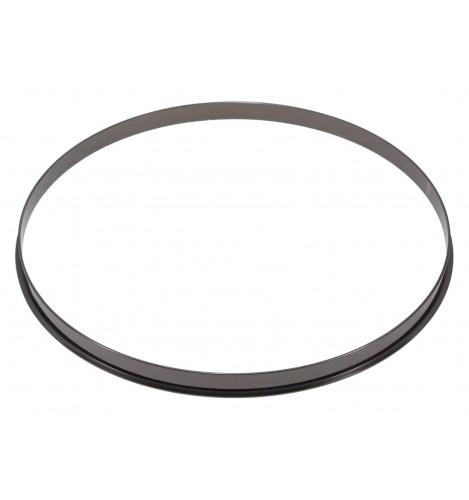 """HSFL23-12BK - 12"""" Black 2.3mm Steel Single Flange Drum Hoop"""