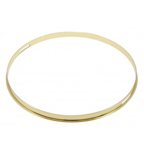 "HSFL23-13SBR - 13"" Snare Side Brass 2.3mm Steel Single Flange Drum Hoop"