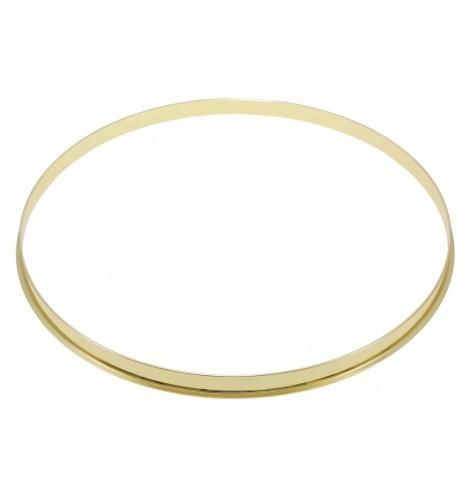 "HSFL23-14BR - 14"" Brass 2.3mm Steel Single Flange Drum Hoop"