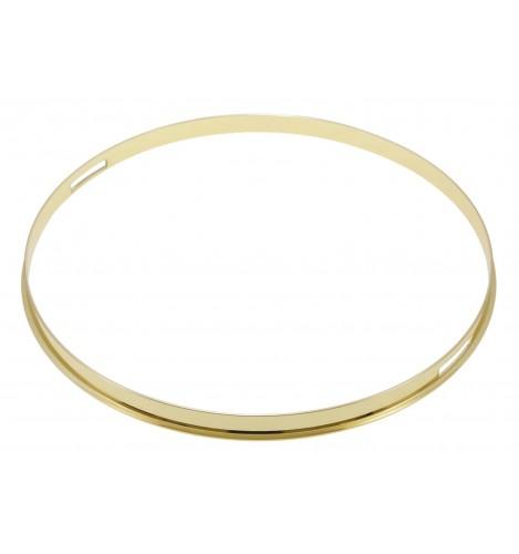 "HSFL23-14SBR - 14"" Snare Side Brass 2.3mm Steel Single Flange Drum Hoop"