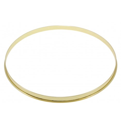 "HSFL23-16BR - 16"" Brass 2.3mm Steel Single Flange Drum Hoop"