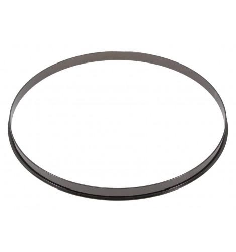 """HSFL23-16BK - 16"""" Black 2.3mm Steel Single Flange Drum Hoop"""