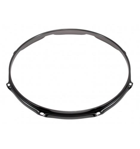 """H30-14-8BK - 14"""" 8 Holes Black 3.0mm Super Triple Flange Drum Hoop"""