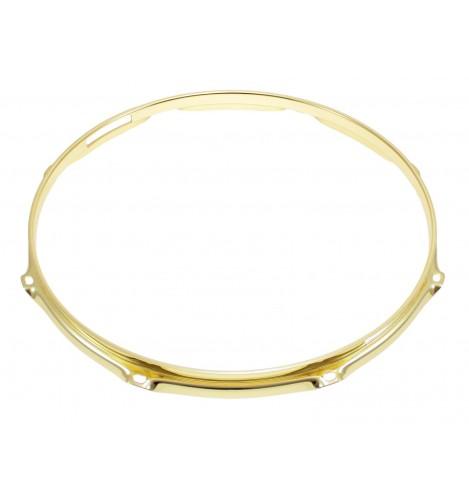 """H30-14-8SBR - 14"""" 8 Holes Snare Side Brass 3.0mm Super Triple Flange Drum Hoop"""