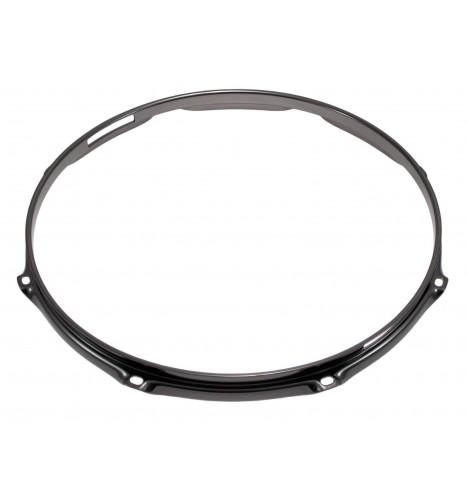 """H30-14-8SBK - 14"""" 8 Holes Snare Side Black 3.0mm Super Triple Flange Drum Hoop"""